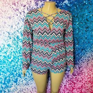 Pants - NWOT Multicolor Zigzag Romper
